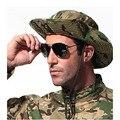 Qualidade superior Engrossar CHAPÉU Militar Camuflagem MULTICAM BOONIE HAT Bucket Chapéus para a Caça Caminhadas Escalada Camping 20 cores H15c1