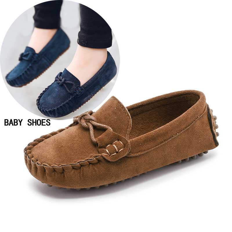 wholesale dealer a1b98 69d2f Baby Toddler Shoes Spring Children Soft Leather Casual Shoes Boys Loafers  Girls Moccasins Shoes For Kids  27