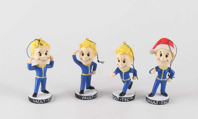 4 Pcs/lot 2018 Gaming Kepala Fallout 4 Vault Boy 1 PVC Action Figure Mainan Anak Hadiah Natal