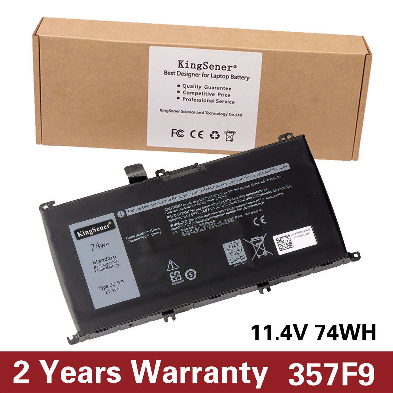 KingSener New 357F9 Laptop Battery For Dell Inspiron 15- 7000 7559 7557 7566 7567 5576 INS15PD-1548B INS15PD-1748B INS15PD-1848B free shipping 1pc original new laptop bottom cover d for dell 7000 7566 7567 0dyxtd