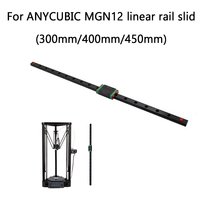 3pcs Linear Rail Slide 3D printer Delta Kossel MGN12H 300/400/450mm Linear Guide for ANYCUBIC 3d printer X Y Z axis parts