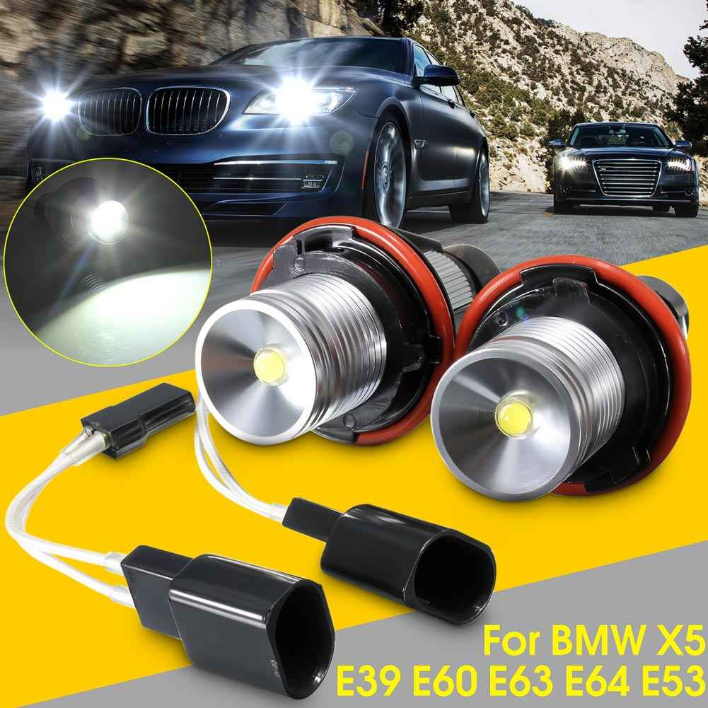 2019 1 Paar 10 W Angel Eyes Witte LED Halo Ring Lampen voor BMW E39 E53 E60 E63 E64 e65 CSL88