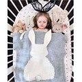 Горячие Продажа Зимние Детские Одеяла Милый Серый Розовый Кролик Трикотажные Детские пеленать Одеяло Для Дивана Кроватки Коляска Детская Кроватка Кровать Банные Полотенца Подарок