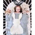Venda quente de Inverno Cobertores Do Bebê Bonito Cinza Rosa Coelho Do Bebê de Malha Swaddle Cobertor Para O Sofá Berço Pram Berço Cama Toalhas de Banho Dom
