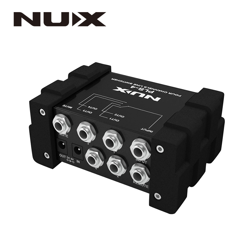 NUX Pro-Audio PLS-4 Four-channel Line Switcher Noise Gate True Bypass Switch 6 Devices With More Than 128 Presets nux pmx 2 multi channel line mixer master level indicator fit several audio devices for electric guitar bass new free shipping