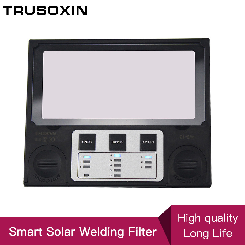Samrt Solar LI Battery Automatic Darkening TIG MIG MMA MAG Electric Welding Filter/Mask Lens For Welding Machine