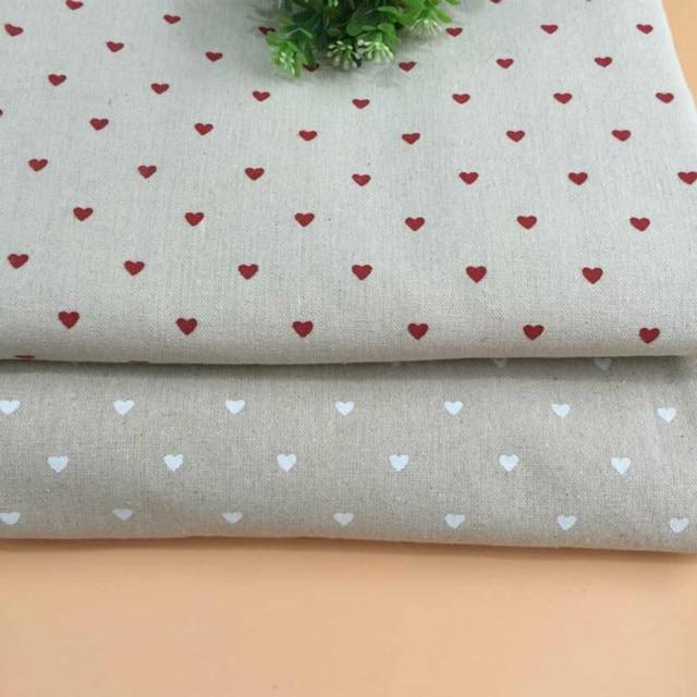 Buulqo Retro algodón tela de lino Corazón de bricolaje cortina ...