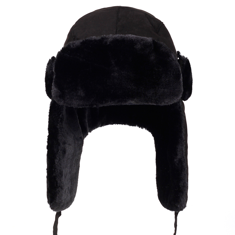 Winter Hats Snow-Hat Ear-Flap Velvet Women for Thick Warm Fur Cold-Cap Bone Male High-Quality