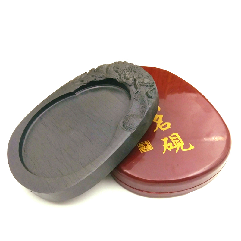 5-8 Inches Natural Rock Inkstone Calligraphy Writing Learning Ink Stone Traditional Chinese Painting Inkslab Ink Grinding Plate