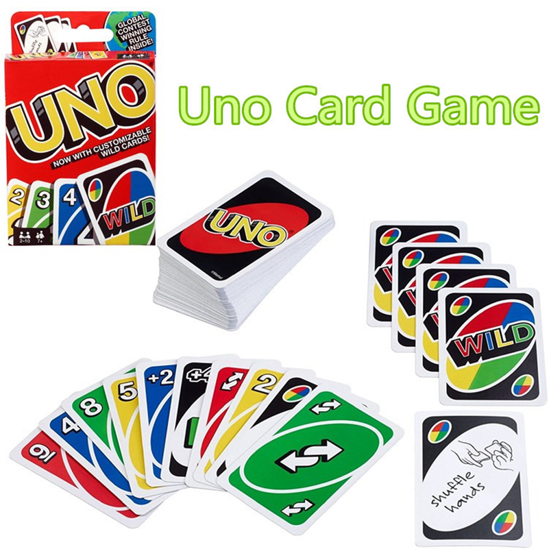 108pcs Uno Cards Game Poker Funny UNO Game Collection Entertainment  Cards Toy for Famil ...