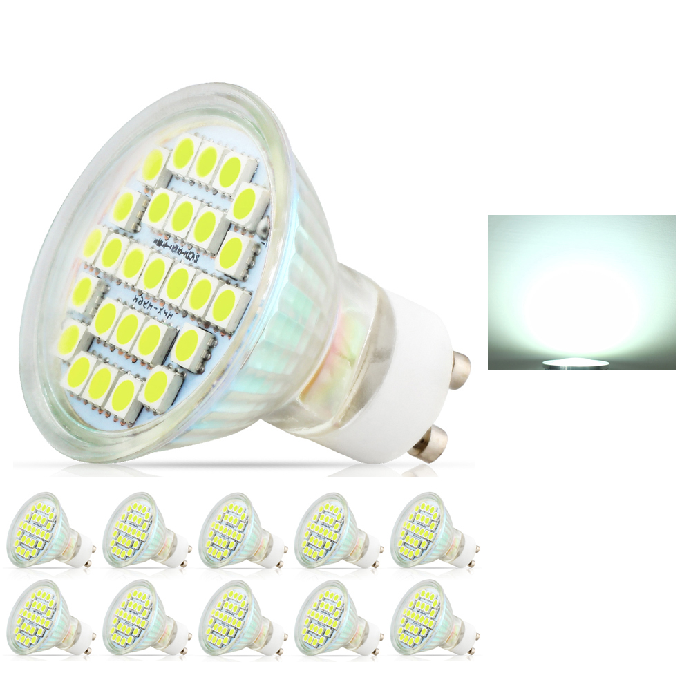 10X 3.5W LED lamp GU10 5050 SMD AC220V-240V Led Spotlight Lamp Warm / Cool White Led Bulbs Light With Safety Glass carprie super drop ship new 2 x canbus error free white t10 5 smd 5050 w5w 194 16 interior led bulbs mar713