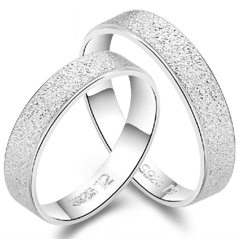 925 silver wedding ring settings without stones eternity band crystal rhinestone rings his and hers promise - Wedding Ring Settings