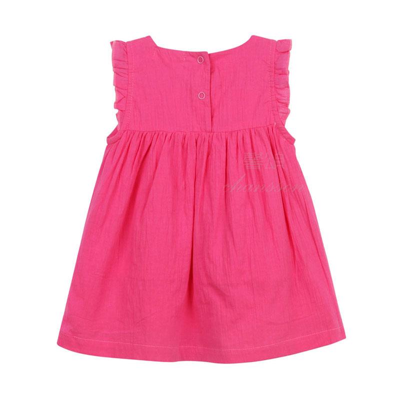 Homix Baby Girl Clothes 100% bawełna Summer Frill Sleeve Haftowane - Odzież dla niemowląt - Zdjęcie 5