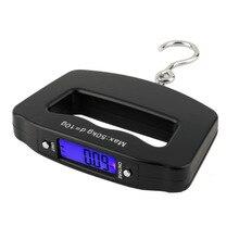 Карманный 50 кг/10 г ЖК-дисплей цифровой рыболовный стул электронные весы с крючком Вес Чемодан
