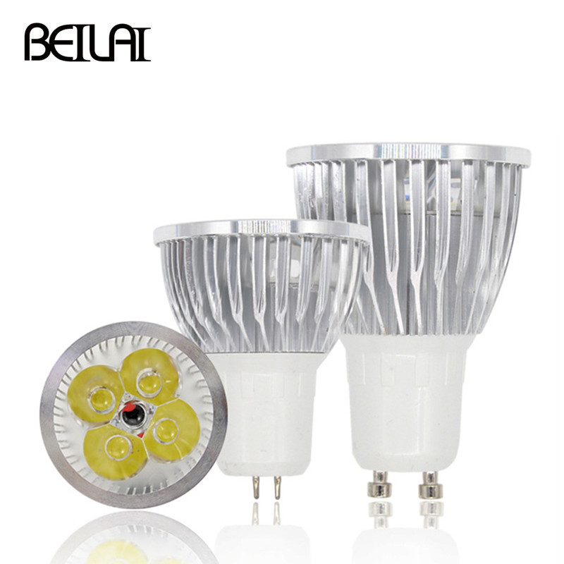 10pcs Lampada de led lamp GU10 bombillas led bulb GU5.3 ampoule led spotlight 110V 220V high power 3W 4W 5W light bulbs