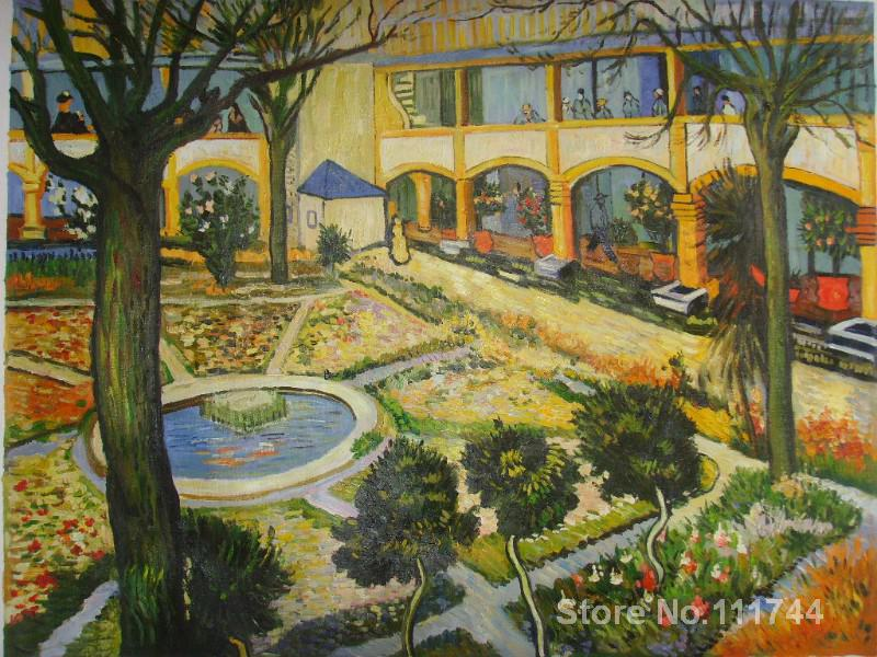 garden of hospital in arles vincent van gogh famous. Black Bedroom Furniture Sets. Home Design Ideas
