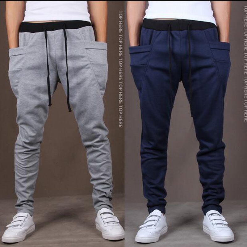 d5727b38e1 Nuevo 2016 para hombres moda pantalones Harem pantalones Casual hombre  Loose mediados de cintura baja para hombre hombres pantalones pantalones 6  colores ...