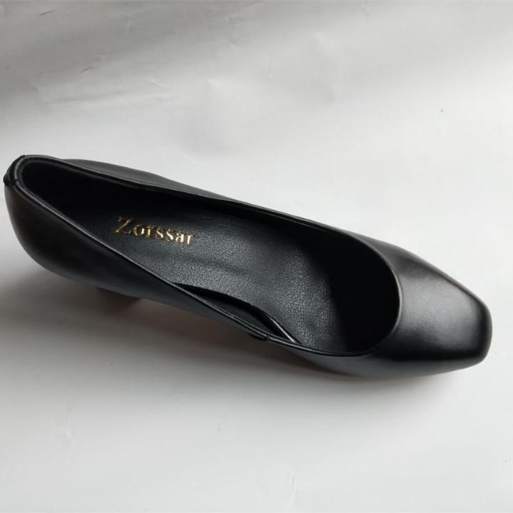 Genuino Zapatos De Mujer Vestir negro Alto Ronda Mujeres Tacón Las Beige Cuero En Bombas Carrera Oficina Moda {zorssar} Tou Deslizamiento qpEdxgXg