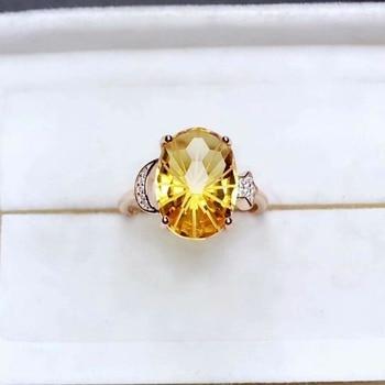 shilovem 925 sterling silver Piezoelectric Fireworks citrine Rings fine Jewelry trendy wedding open gift 10*14mm mj1014028agj