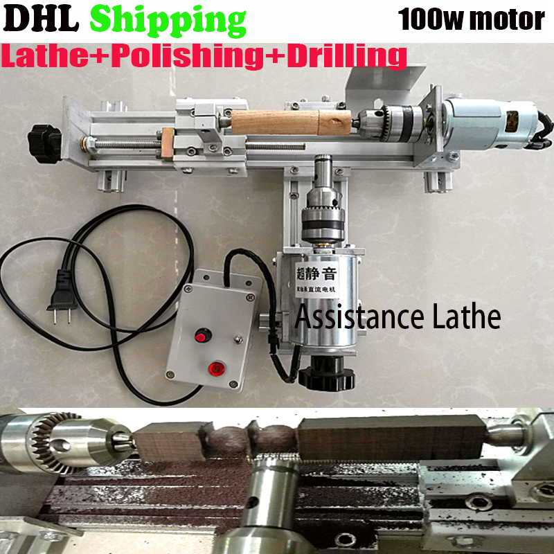 Mini Lathe Beads Machine Polisher Table Saw Mini DIY Wood Lathe Cutter with Adapter, 2 set,Cutting DIY Wood Lathe, ship DHL adjustable double bearing live revolving centre diy for mini lathe machine
