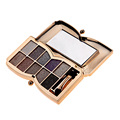 Fashion 10 Nake Color Diamond Bright Eyeshadow Palette Makeup Flash Glitter Eyeshadow with Brush Mirror paleta de sombra