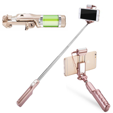 High Quality 18.5cm-84cm Bluetooth Selfie Stick With LED Light-compensating Lamp 1500mAH Portable Monopod For Iphone Android
