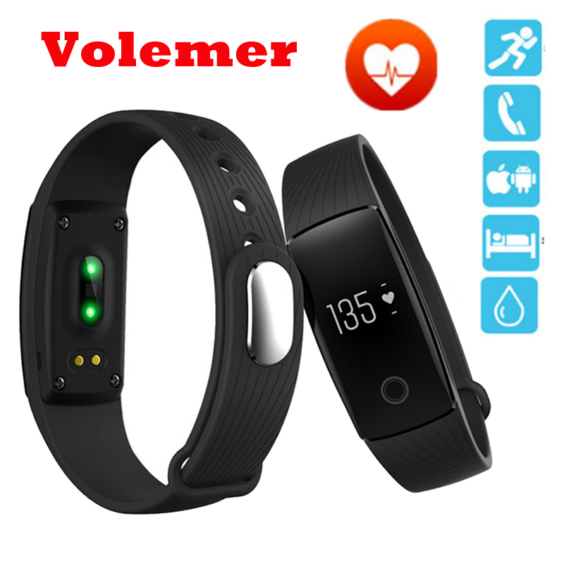 ID107 Bluetooth V4.0 Fitness Tracker Monitor Cardiaco Smart band Heart Rate VS Fit Bit Miband 2 Mi Band Sports Smart Wristband ...