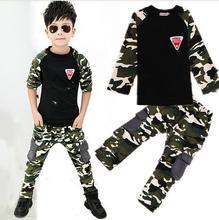 2017 Nouveau Camouflage Enfants Vêtements Set pour Garçons et Filles Printemps et Automne Coton Camo Garçons Sport Ensemble Filles enfants vêtements livraison gratuite