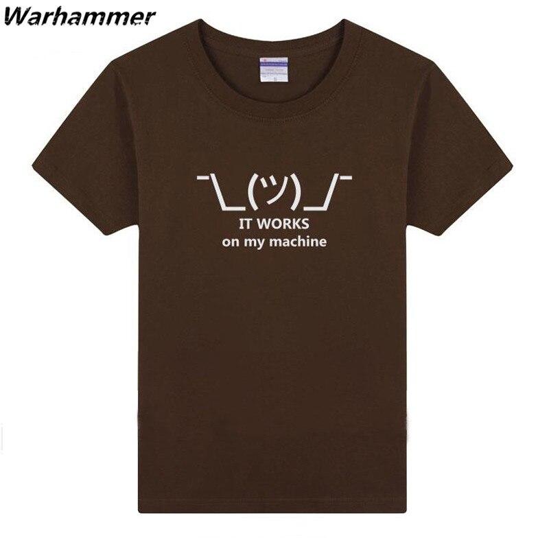 Warhammer 2017 Men Tshirt Geek Funny Summer Tee Shirt Homme Print It Works On My Machine Cotton O neck Short Sleeve 3XL T-shirts benfica camisola 2020