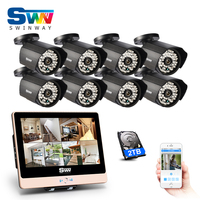 New 2 0Megapixels HD Outdoor 48IR Night Vison Security POE Camera Kit 8CH Plug And Play