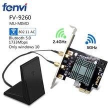 Desktop Computer Wireless Intel 9260NGW 9260ac Dual Band 1730Mbps MU-MIMO Windows 10 WiFi Bluetooth 5.0 PCI-E 1X Network Card