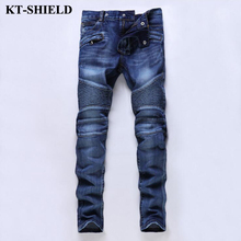 Famous Brand Jeans Men Fashion new Ripped Denim Pants Men Vaqueros Hombre Slim fit Trousers 100% Cotton Casual Mens Harem Pants