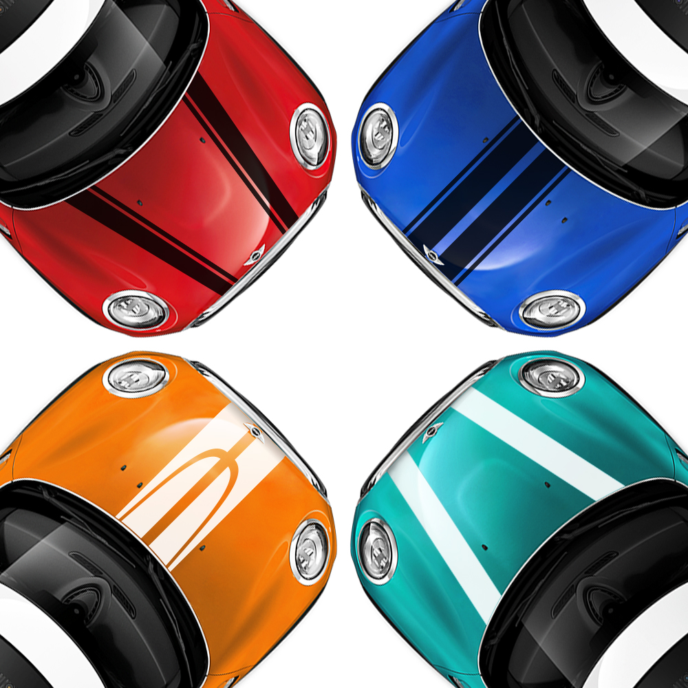 Car Engine Hood Bonnet Stickers Stripes Decal For Mini Cooper S JCW R55 R56 R60 R61 F54 F55 F56 F57 F60 Countryman Accessories