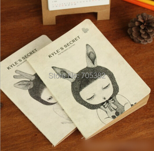 1pc kawaii girl design notebook Diary for kids Cute stationery wholesale Good quality (tt-1317)