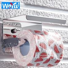 WEYUU Stainless Steel Bathroom Paper Towel Holder Bathroom Toilet Paper Holder Stainless Steel Mobile Phone Tray Paper Rack