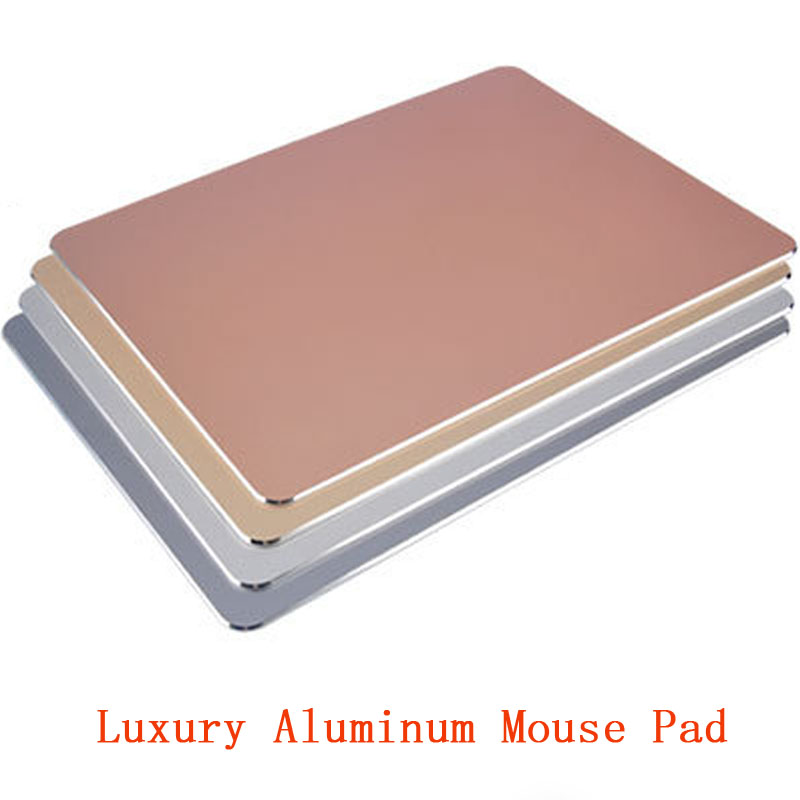 Luxe Aluminium Metalen Slanke Grote Game Muismat PC Computer Laptop Gaming Mousepad voor Apple MackBook CS GO dota 2 lol