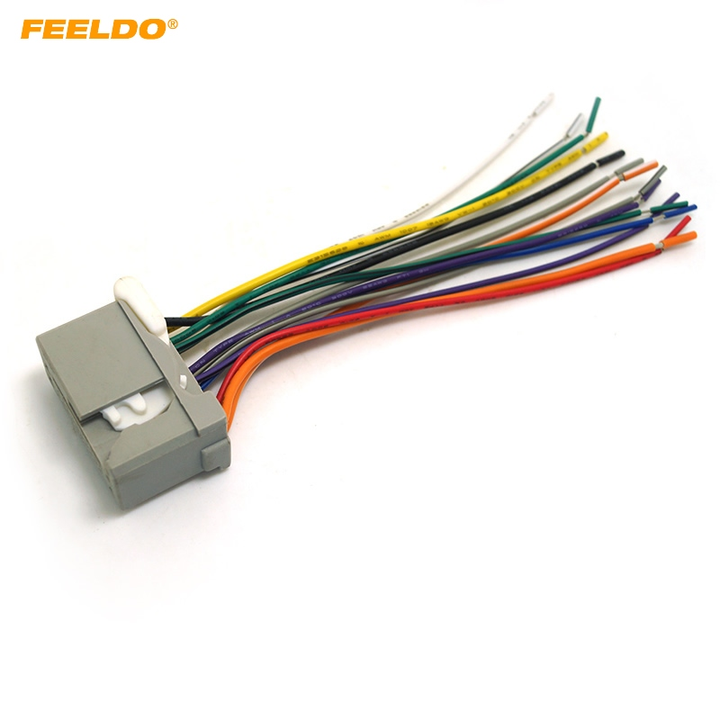 Feeldo Car Audio Stereo Wiring Harness For Honda Accord  Crosstour  Civic  Fit  Odyssey Ridgeline