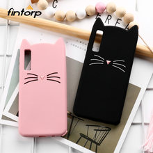 Cute Cat Case For Samsung Galaxy A7 2018 Cases Soft Silicone Cover On For Samsung A7 A9 A8 2018 A5 2017 S10e S10 Plus M20 Covers(China)