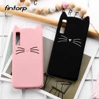 Cute Cat Case For Samsung Galaxy A7 2018 Cases Soft Silicone Cover On For Samsung A7 A9 A8 2018 A5 2017 S10e S10 Plus M20 Covers