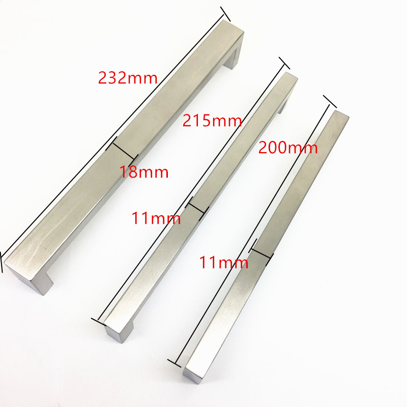 THOM KING Large Size Furniture Cabinet Handle Stainless Steel Kitchen Door Pull Drawer Knob CC 192/206/224mm Drawer Handle 8pcs 30mm stainless steel zinc satin knob cabinet door drawer cupboard pull handle with screw