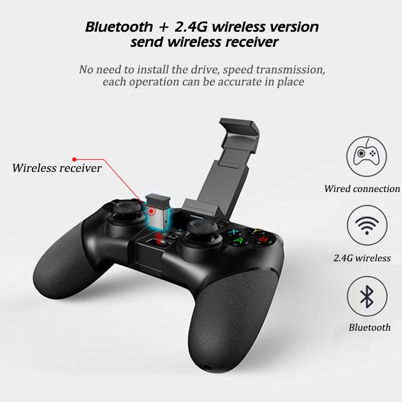 Wireless Bluetooth+USB Wired+2.4G Wireless Gamepad Gaming Controller ...