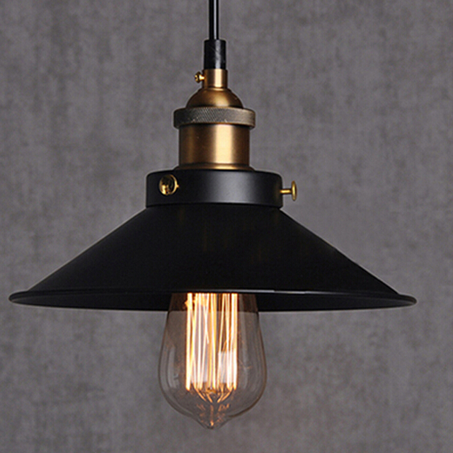 Vintage Industrial Fluorescent Light: Free Shipping Dia 22cm Copper E27 Base Black Light 110V Or