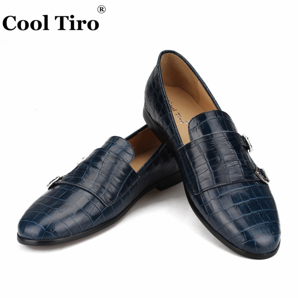 Crocodile print Double-Monk Loafers Men Moccasins SmokingSlippers Wedding Dress  Shoes Men s Flats Casual Shoes 9bde84a18067