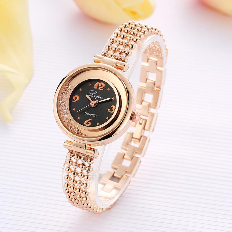 LVPAI Women Fashion Watches Elegant Lady Stainless Steel Bracelet Wrist Watch Clock Luxury Rhinestone Quartz Watch Relogio Z20 top new fashion brand women lady luxury clock female stylish casual business elegant steel wrist quartz bracelet watch re024