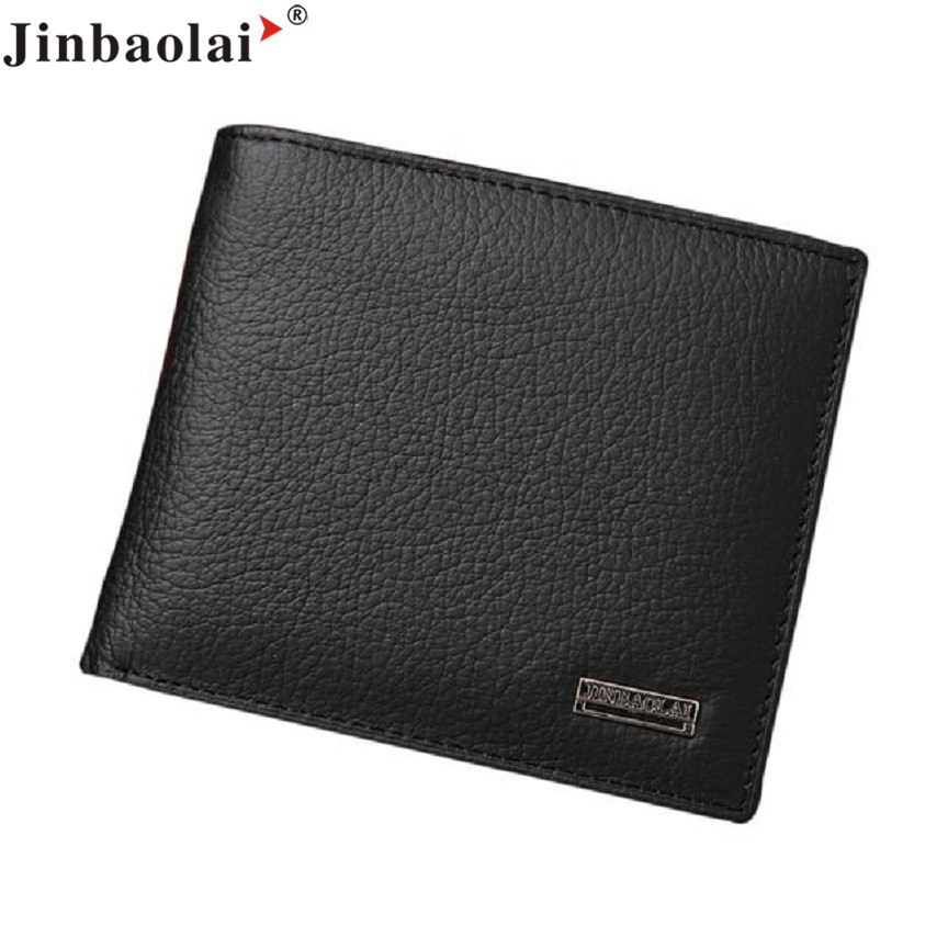 Naivety 2016 New JINBAOLAI Bifold Short Wallet Men PU Leather Credit/ID Card Billfold Purse Mini Monedero 11S60930 drop shipping