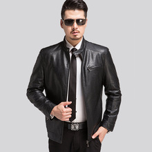 Brand Clothing Leather Jacket Men Spring And Autumn Business Casual Faux Leather Coats Mens Leather Jacket Jaqueta De Couro
