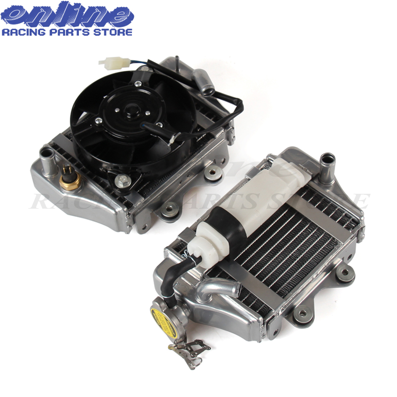 US $61 62 15% OFF|150cc 200cc 250cc zongshen loncin lifan motorcycle water  cooled engine radiator xmotos apollo water box with fan accessories-in