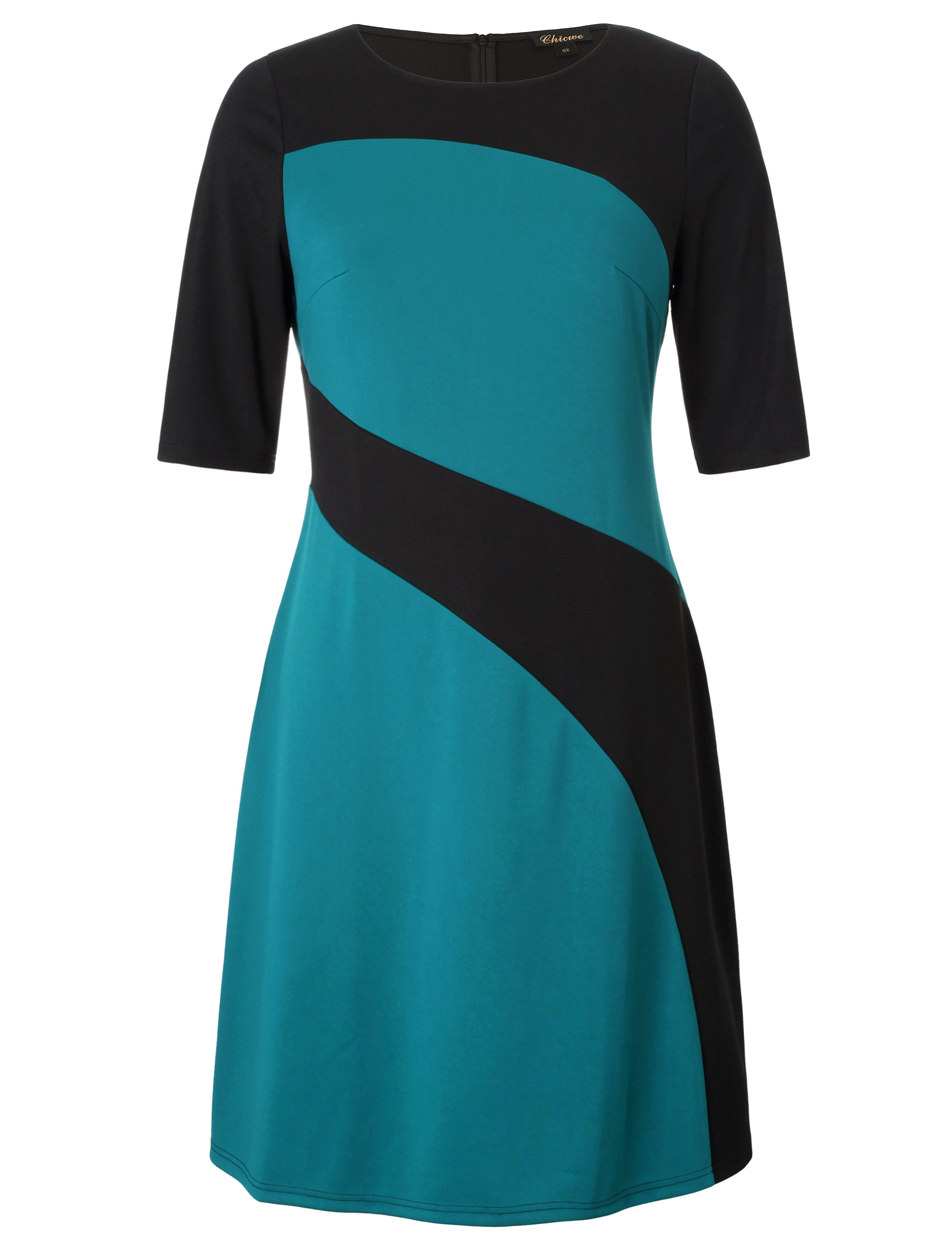 Aliexpress.com   Buy Chicwe Women s Plus Size Stylish Contrast Ponte Dress Large  Size Big Size 1X 4X from Reliable Dresses suppliers on Chicwe Official ... 95c6e0e832e4