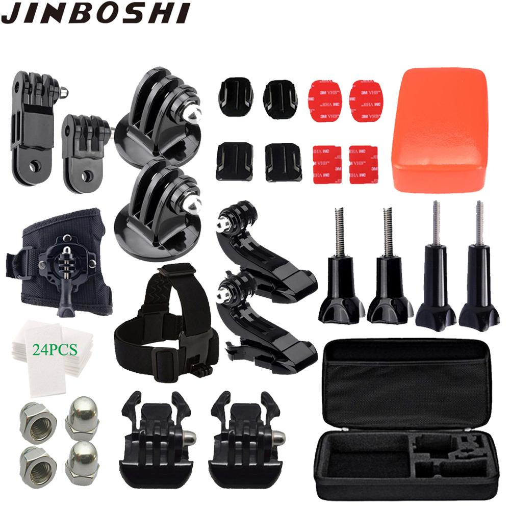 for Gopro Accessories Set for go pro hero 7 6 5 4 3 kit for Eken h8r / for xiaomi for yi with big storage case for action camera