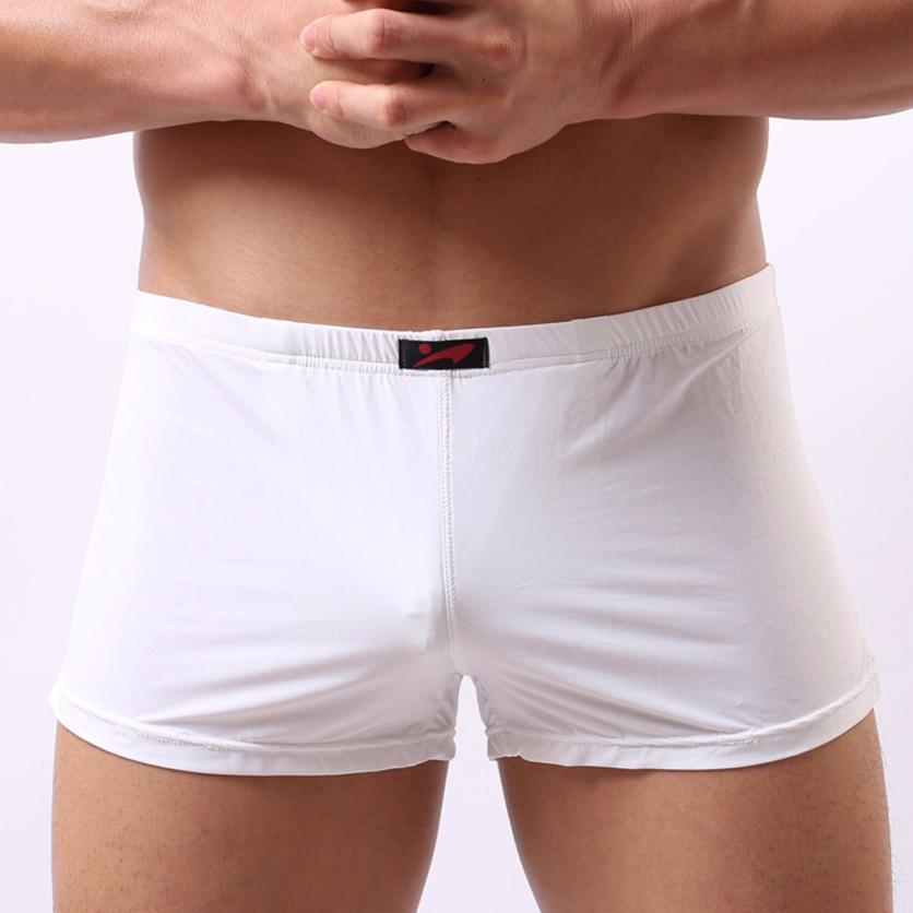 2018 Fashion Sexy Mens Solid Underwear sexy underwear big men mens Comfortable underwear Sexy mens stretch breathable 18JUNE30